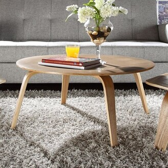 Modway Plywood Coffee Table Color: Natural