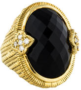Judith Ripka 18K Onyx & Diamond Cocktail Ring