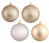 4-Assorted Finish Ornaments (Set of 12)