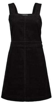 Dorothy Perkins Womens Petite Black Square Neck Pinafore Dress, Black
