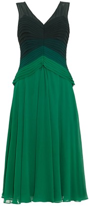 Phase Eight Elfita Layered Dress, Emerald