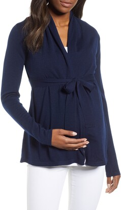 Angel Maternity Wool Blend Maternity Cardigan