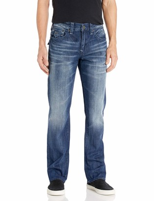 True Religion Men's Ricky Straight Jean with Flap