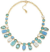 Carolee Crackled Stones Frontal Necklace