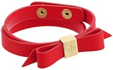 Kate Spade Wrap Things Up Leather Bow Wrap Bracelet Bracelet