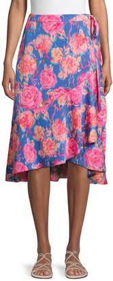 Ava & Aiden Floral Ruffle Wrap Skirt