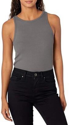 RVCA Duffy Tank Top (Black Stripe) Women's Clothing
