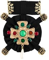 Dolce & Gabbana Maltese cross brooch