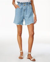 J.o.a. Cotton High-Waist Denim Shorts