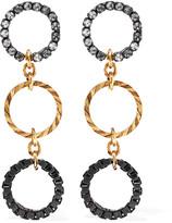 Erickson Beamon Wild Thing Gold-plated Swarovski Crystal Earrings - Metallic