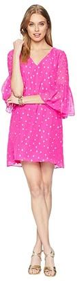 Lilly Pulitzer Caroline Silk Tunic Dress (Pinata Pink Starry Clip Chiffon) Women's Dress