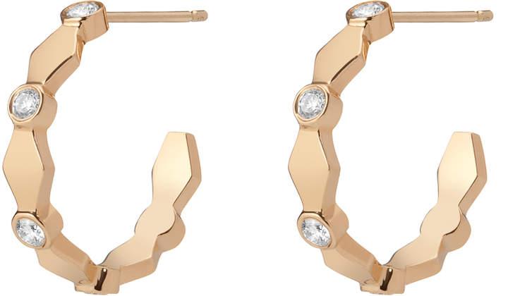 Gillian Steinhardt 14k Gold Harlequin Huggies Hoop Earrings