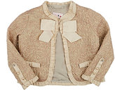 Lanvin ABSTRACT-PATTERN BROCADE JACKET-CREAM SIZE 6