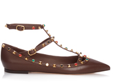 Valentino Rolling Rockstud leather flats