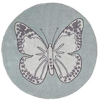 Lorena Canals Butterfly Vintage Washable Rug (Green)