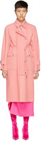 Sies Marjan Pink Pockets Trench Coat
