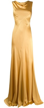 Alberta Ferretti draped long dress