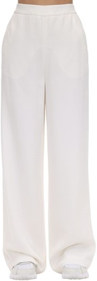 Agnona High Waist Wide Leg Wool Blend Pants