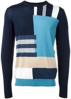 Salvatore Ferragamo patterned stripe jumper
