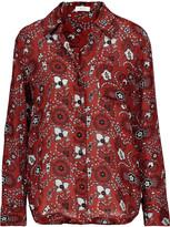 A.L.C. Scott printed silk crepe de chine blouse