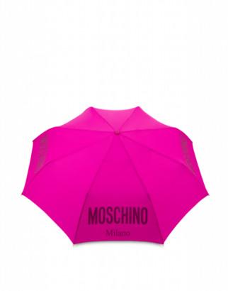 Moschino Openclose Umbrella With Logo Woman Purple Size Single Size