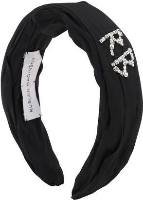 Ruslan Baginskiy Crystal Embellished Satin Headband