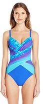Gottex Women's Pixel Ombre Surplice One Piece Swimsuit