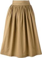 Aspesi gathered midi skirt - women - Cotton - 40