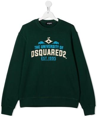 DSQUARED2 University of print sweatshirt