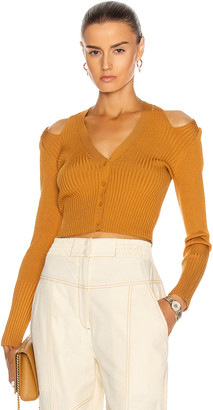 Jonathan Simkhai Jolie Cut Out Cardigan in Ochre | FWRD