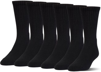 Under Armour Kids' UA Charged Cotton 2.0 Crew Socks - 6-Pack