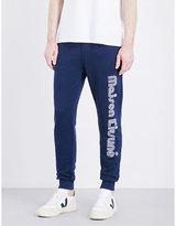 Maison Kitsune Striped-logo Cotton-jersey Jogging Bottoms
