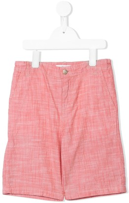 Bonpoint Cotton Crosshatch Shorts