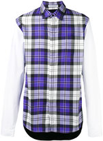 J.W.Anderson panelled checked shirt - men - Cotton/Viscose - 50