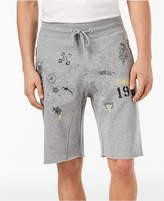 GUESS Men's Graffiti Jogger Shorts