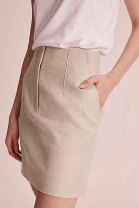 Country Road Darted Organically Grown Linen Skirt