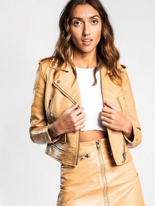 Lulu & Rose Quinn Biker Jacket in Tan