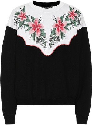 Alanui Tropical Flowers wool-blend sweater