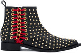 Alexander McQueen Braided Chain studded ankle boots