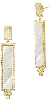 Freida Rothman Color Theory Linear Drop Earrings in 14K Gold-Plated Sterling Silver or Rhodium-Plated Sterling Silver