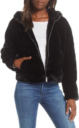 UGG Mandy Faux Fur Hooded Jacket