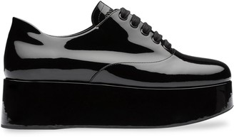 Miu Miu Platform Lace-Up Shoes