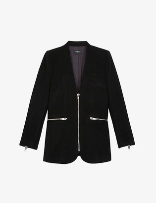 The Kooples Zipped wool and cashmere-blend jacket