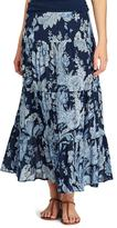 Chaps Women's Tiered Maxi Skirt
