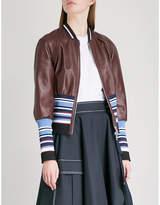 Sportmax Juditta leather bomber jacket