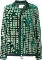 Sacai grid print jacket