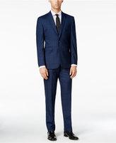 Vince Camuto Men's Slim-Fit Hazy Blue Windowpane Suit