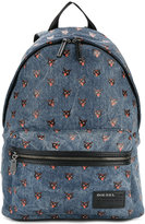 Diesel cat print denim backpack