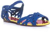 Dolce & Gabbana Raffia-lace flat sandals