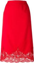 Ermanno Scervino lace hem skirt - women - Polyester/Spandex/Elastane - 46